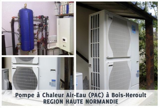 Pompe à Chaleur Air-Eau (PAC) à Bois-Heroult