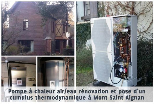 pompe a chaleur mont saint aignan 76 fleury thermique