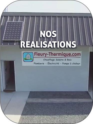 réalisation chauffage plomberie energie solaire fleury thermique